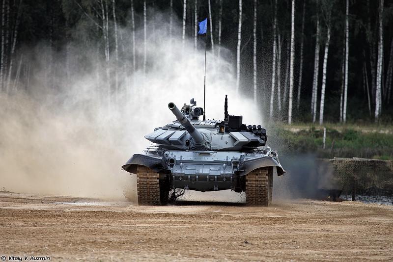 Танк Т-72Б3 команды Казахстана (T-72B3 tank of Kazakhstan team)