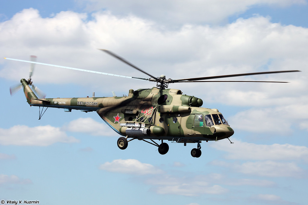 Ми-8МТВ-5-1 обеспечивает поддержку подразделений с воздуха (Mi-8MTV-5-1)