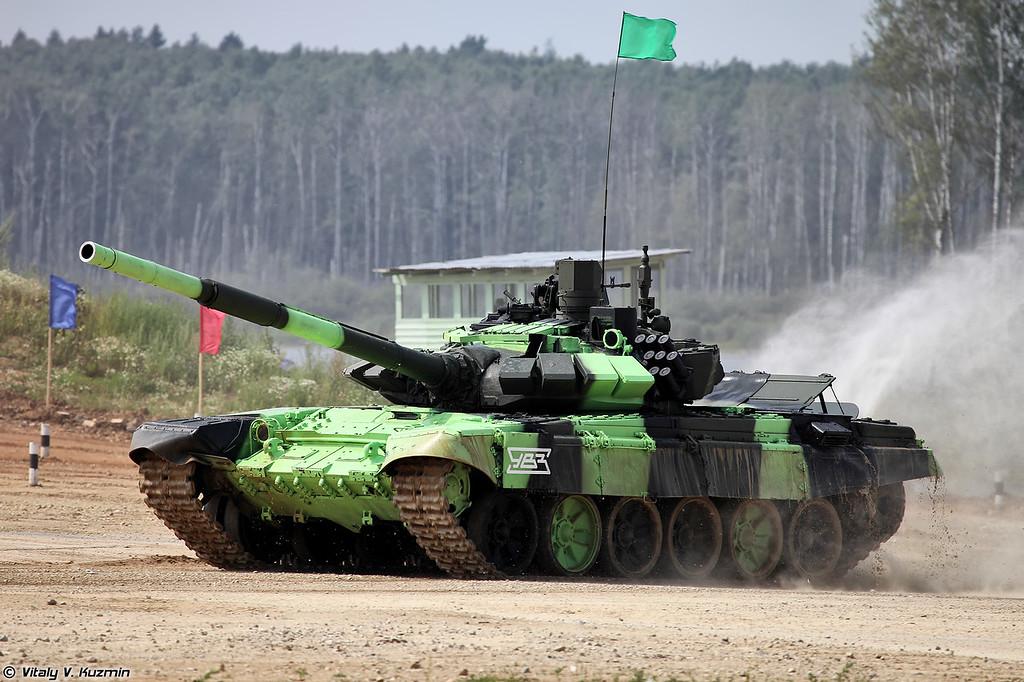 Команда России выступает на Т-72Б3М (T-72B3M of Russian team)