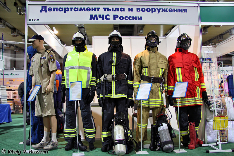 МЧС также отметилось на выставке (Emergency Control Ministry of Russia also took part in the exhibition)