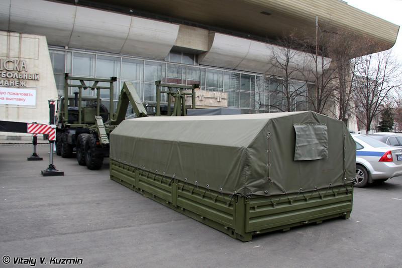 """Автомобиль самопогрузки типа """"Мультилифт"""" МЛ 10 на шасси Урал-532361 (Self-loading vehicle ML 10 on Ural-532361 chassis)"""