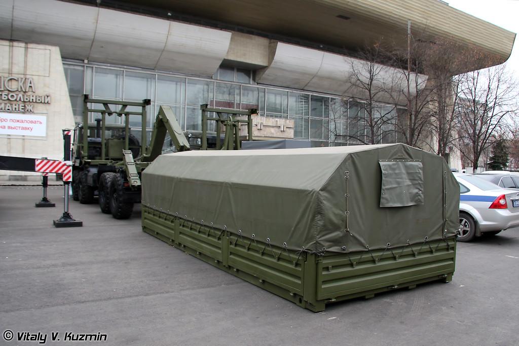 "Автомобиль самопогрузки типа ""Мультилифт"" МЛ 10 на шасси Урал-532361 (Self-loading vehicle ML 10 on Ural-532361 chassis)"