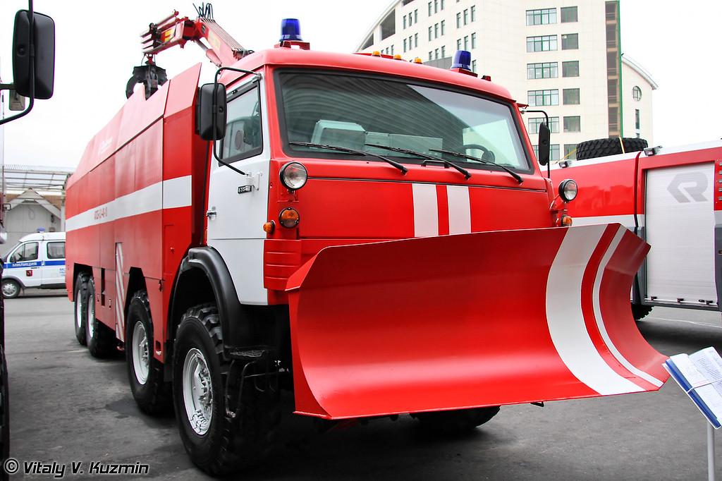 Автомобиль пожарно-спасательный бронированный АПСБ-6,0-40-10 на шасси КАМАЗ-63501 (Armored firefighting vehicle APSB-6,0-40-10 on KAMAZ-63501 chassis)