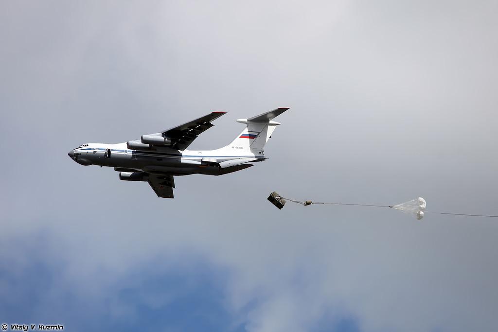 Десантирование груза Ил-76МД (IL-76MD)