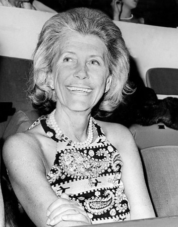 Mrs. Richard C. Du Pont Attending The Opening of The 85th National Horse Show at Madison Sq. Garden. 1968
