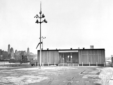 View of Downtown Heliport. 1962