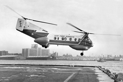 Helicopter Leaves The Take- Off Strp. 1962