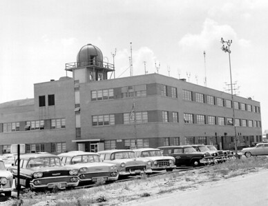 CAA air route traffic center building. 1958