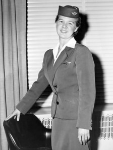 Aircraft Stewardess, KLM Royal Dutch Airlines. 1956