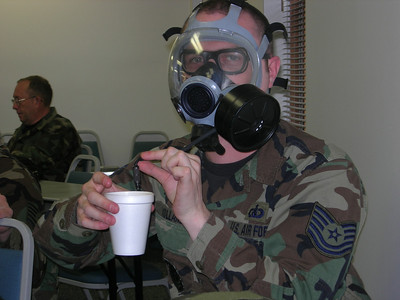 One must stay hydrated while remaining safe from sarin gas.