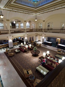 Lobby of the Blackwood Hotel in Davenport, IA- where Dan & Laurie hosted a reception