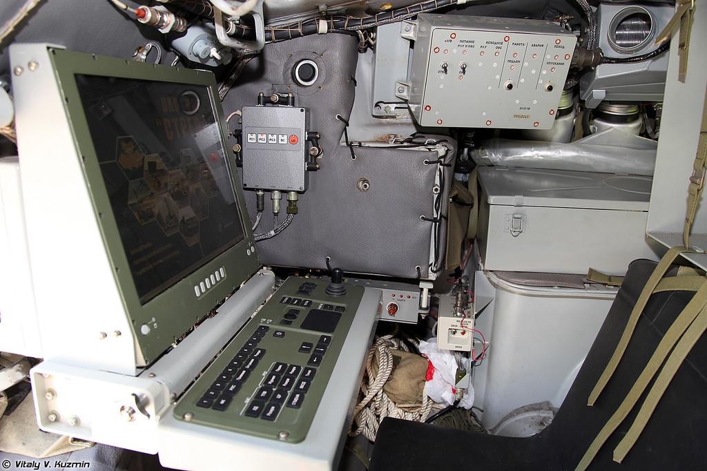Панель управления РЛС в рабочем состоянии (Radar control panel)