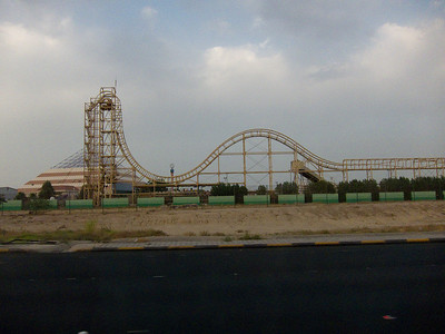 This is an amusement park on the outskirts of Kuwait City. Doesn't look so amusing to me.