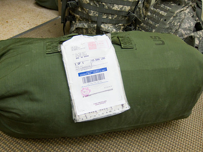My duffel bag made it. I mailed some stuff from Ft. Benning because I didn't want to have to lug around another bag. It's always a little nerve wracking waiting for the first piece of mail to arrive especially when there's some expensive gear in there. But it made it. I know my address works. Only took about a week with normal mail too.
