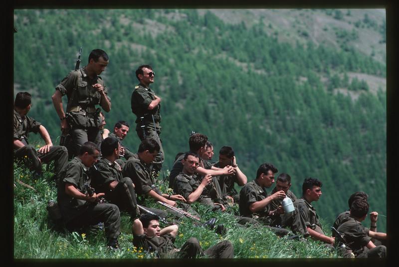 summer camp - campo estivo Battaglione Alpini Susa Valle Argentera, Sauze di Cesana
