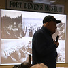 Talk on Battle of the Bulge in WWII, in its 75th anniversary year, at the Fort Devens Museum. Joe Landry, 96, of Shirley, who was a truck driver in the Battle of the Bulge, talks about his experiences. (SUN/Julia Malakie)
