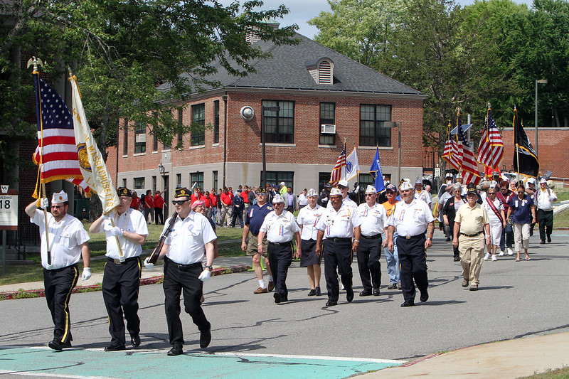 Celebration of 90th anniversary of the Bedford VA begins with a one-mile Salute Parade/Walk around the campus. (SUN/Julia Malakie)