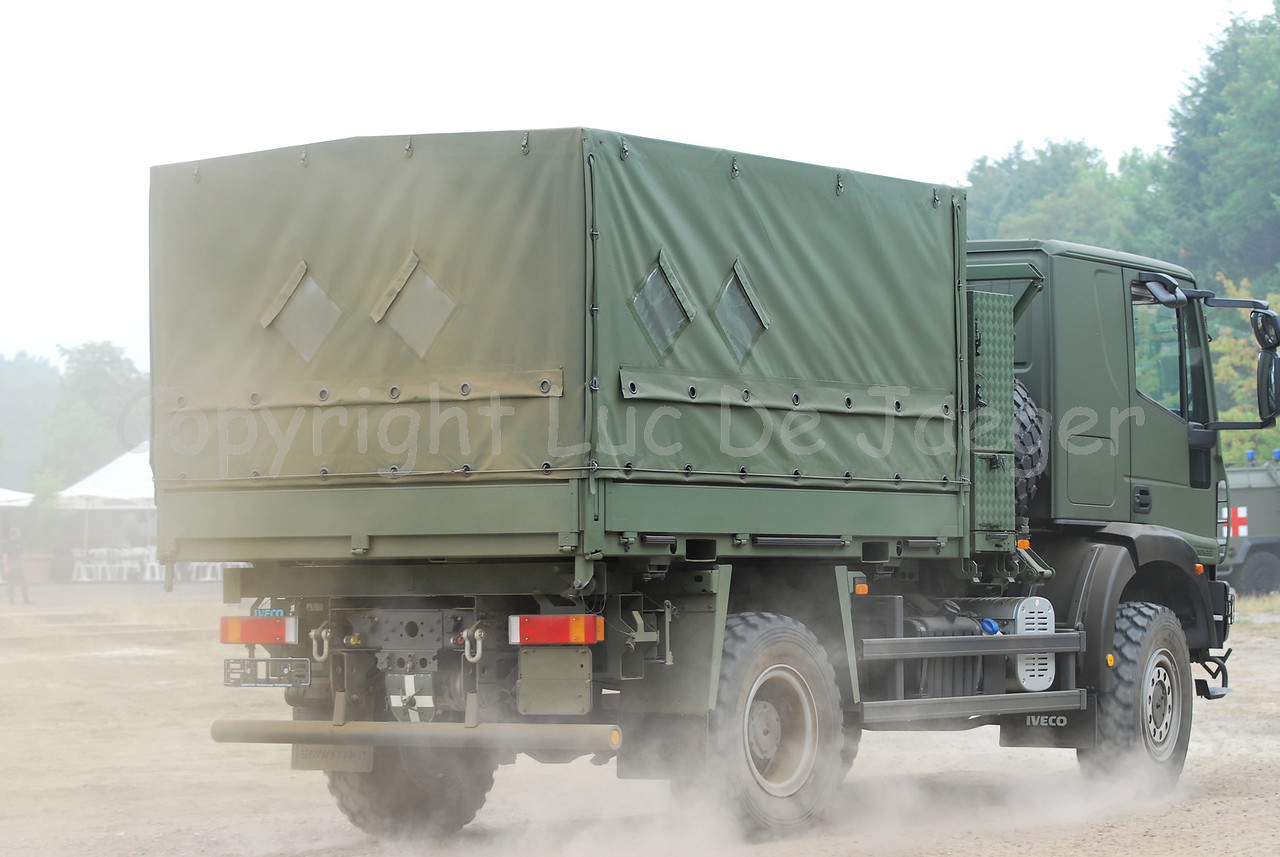 The new Iveco EuroCargo - 7.5T 4x2 light trucks in use by the Belgian Army.