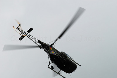 An Alouette helicopter of the Belgian Army.