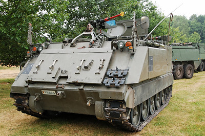 The M113 Armored Personnel Carrier is a tracked light armoured vehicle that will be replaced by the updated Pandur vehicles.