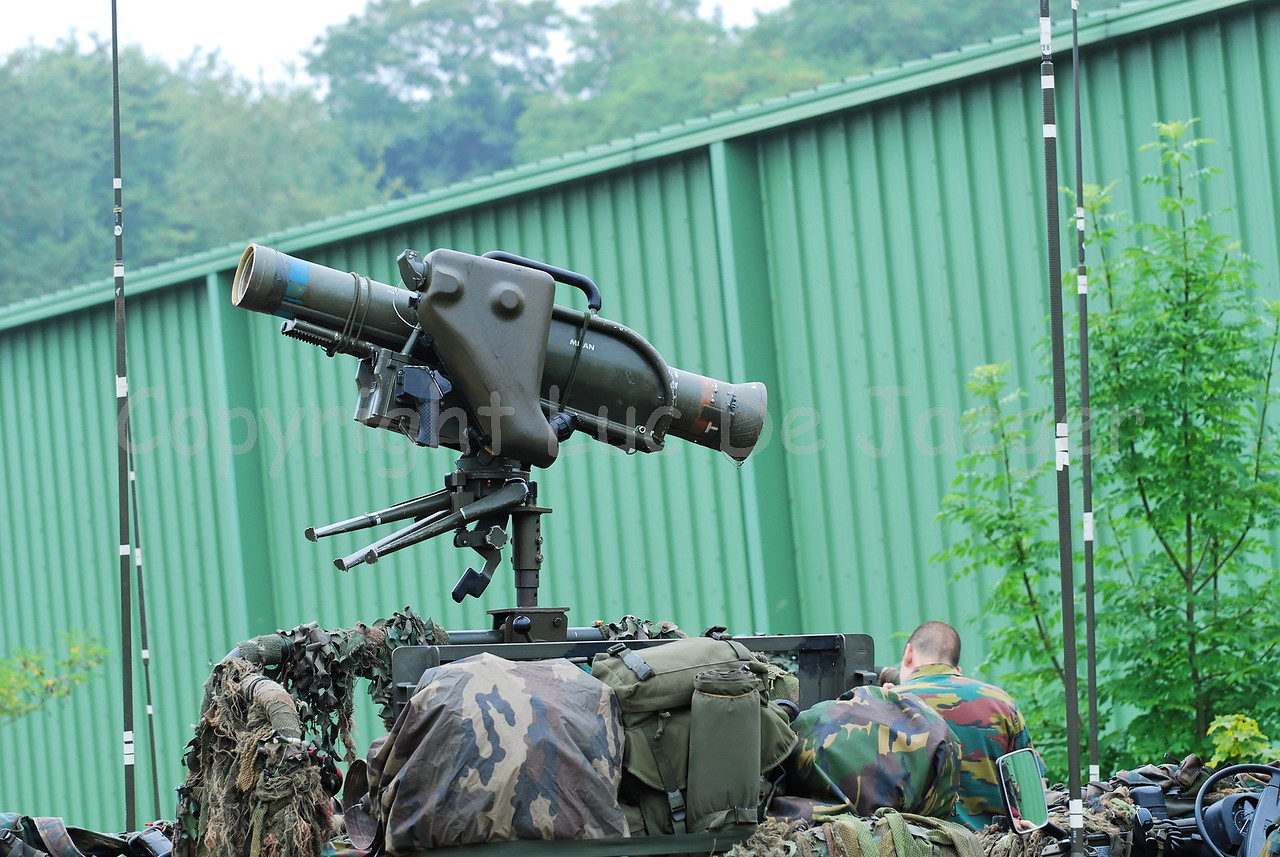 The Milan, guided anti-tank missile system, built on the VW Iltis jeeps of the recce teams.