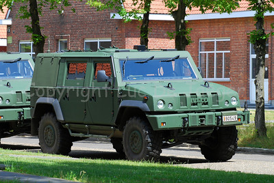 The Iveco LMV jeep used by the Belgian Army.