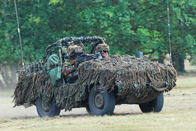 A Recce (scout) team of the Belgian Army proceeding in their VW Iltis jeep.