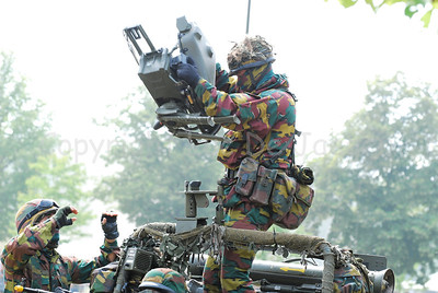 A soldier of the Belgian Army setting up the Milan guided anti-tank missile system.