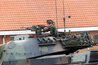 The turret of the Leopard 1A5 MBT.