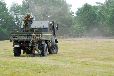 The Mistral infra-red surface-to-air missile system built on the platform of a Unimog vehicle.