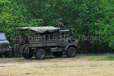 A Unimog vehicle in use with the Belgian army.