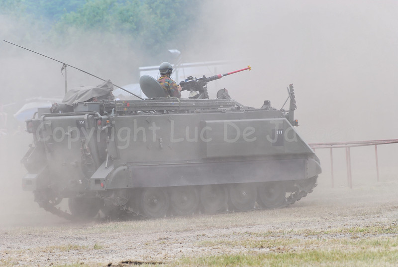 The M113 Armored Personnel Carrier is a tracked light armoured vehicle that will be replaced by the updated Pandur.