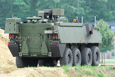The brand new Piranha IIIC manufactured by MOWAG that will replace the Leopard 1A5 MBT in the Belgian Army.