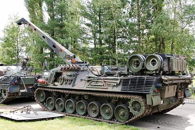Repair of a Leopard 1A5 MBT of the Belgian Army.