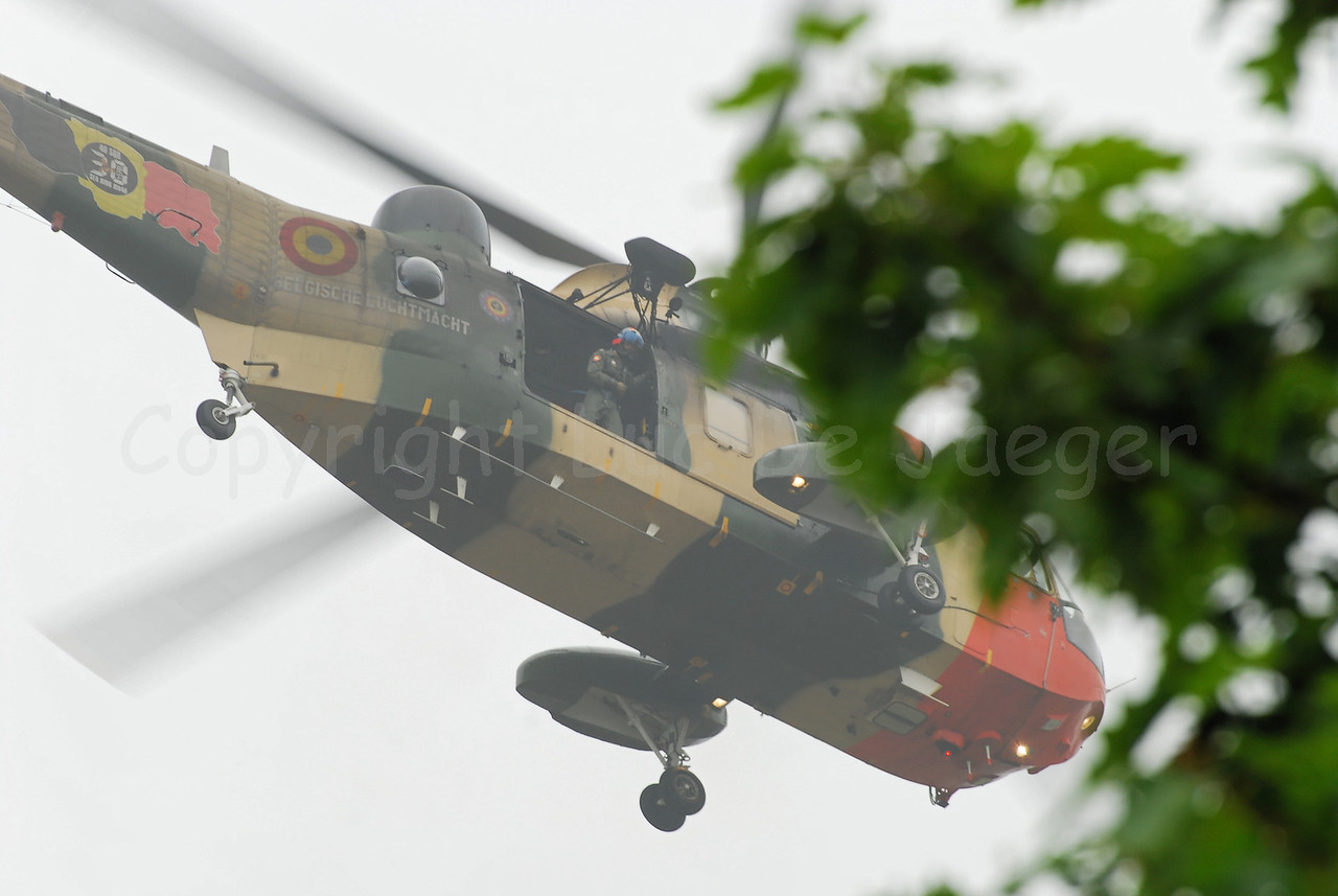 The Sea King helicopter still in use by the Belgian Army and soon to be replaced by the NH 90.