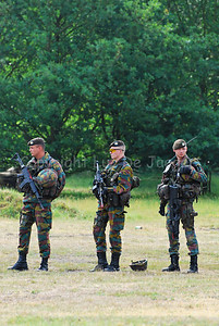 Belgian infantry soldiers ready to fight.