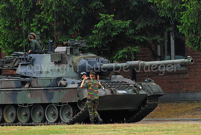 A Belgian Leopard 1A5 MBT.