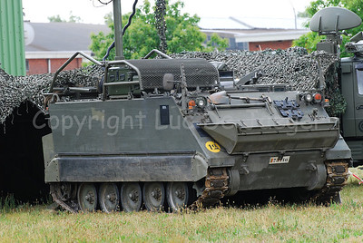The M113 armored personnel carrier still used by the Belgian army.