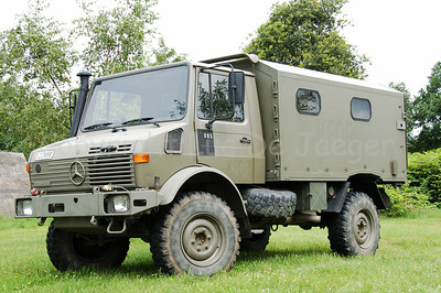 """A Unimog vehicle. These """"workhorses"""" are still much in use in the Belgian Army."""
