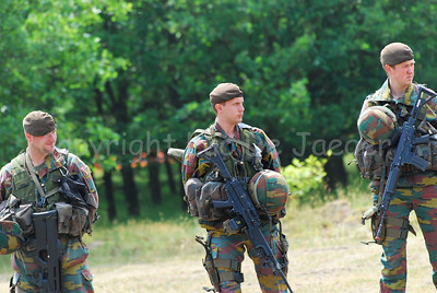 Belgian Infantry soldiers equipped for the fight.