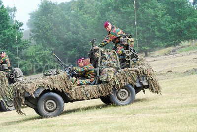 A Recce (scout) team of the Belgian Army in their VW Iltis jeep.