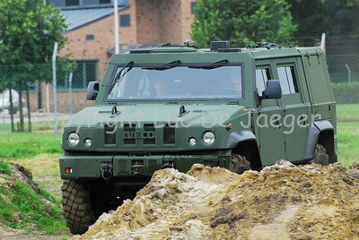 The Iveco LMV jeep in use with the Belgian army.