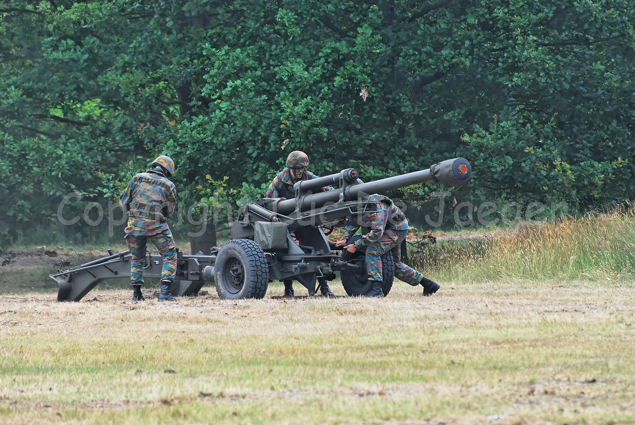 A LG1 105 mm/30-calibre towed howitzer used by the Belgian Army/Artillery.