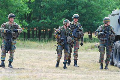 Belgian Infantry soldiers beside the AIV Piranha IIIC.