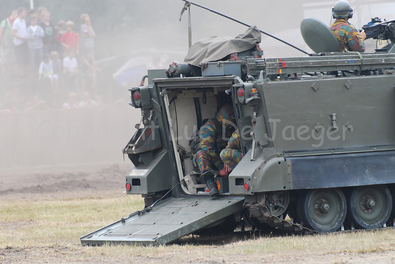 The M113 Armored Personnel Carrier is a tracked light armoured vehicle that will be replaced by the new Pandur.