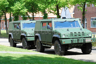 Two Iveco LMV jeeps in use with the Belgian army.