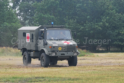A Unimog in an Ambulance version, much in use by the Belgian Army.