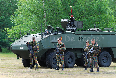 The brand new AIV (Armoured Infantry Vehicle) Piranha IIIC manufactured by MOWAG with the FN Arrows RWS.