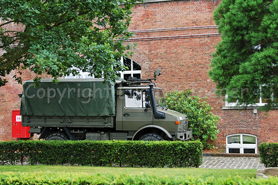 The Unimog vehicle, one the most used vehicles (and real workhorses) in the Belgian Army.