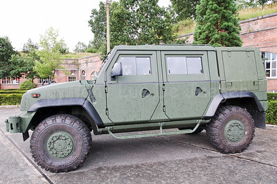 The brand new Iveco LMV (Light Multirole Vehicle) that replaces the VW Iltis jeeps in the Belgian Army.